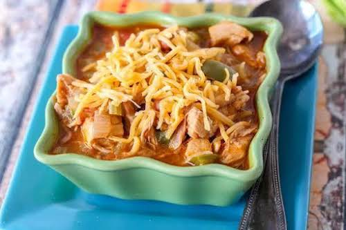 """Quick Pinto Bean Chicken Chili """"This quick and easy chili recipe is..."""