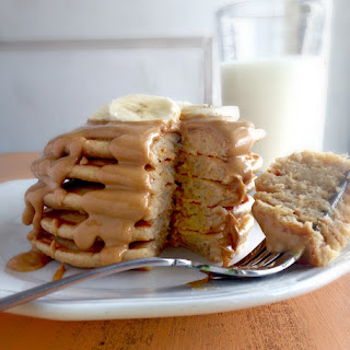 Peanut Butter Protein Pancakes.