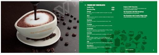 The Chocolate Room menu 1