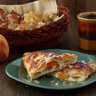 Peach Pie Cheesecake Turnovers