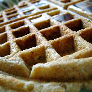Cinnamon Oatmeal Waffles.
