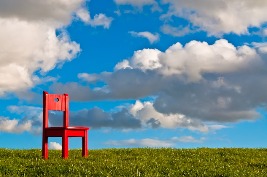Red Chair by Robert Gifford - Artistic Objects Other Objects