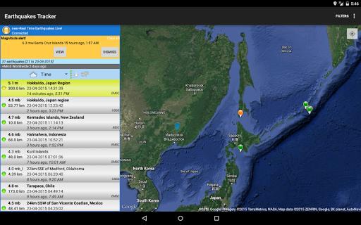 Earthquakes Tracker  screenshots 6