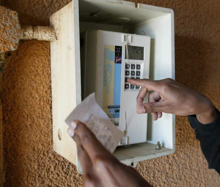 A prepaid electricity meter. Picture: SUNDAY TIMES