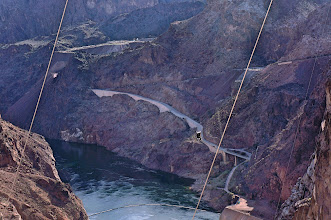 Photo: The road our bus took down the side of Black Canyon.