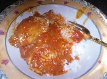 Stewed Chicken In Tomato Gravy