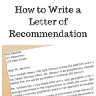 How to write a letter of recommendation - náhled