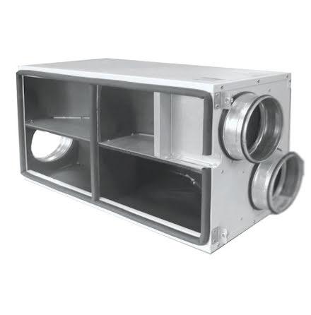 Anslutningslåda för ACF med sidoanslutning 4x125 mm till  Domekt R 200 EC-V