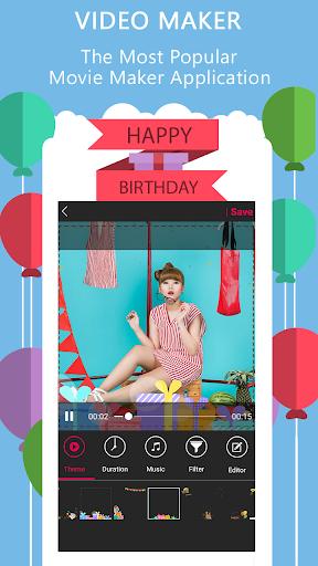 Happy Birthday Video Maker  screenshots 1