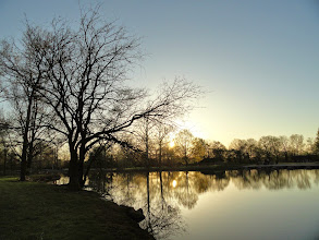 Photo: Beautiful sunset on a pristine pond at Eastwood Park in Dayton, Ohio.