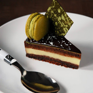 Chocolate and Matcha Entremet