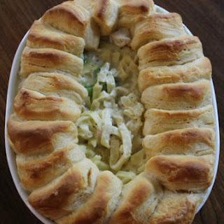 Easy Chicken Alfredo Pasta & Biscuit Bake - Ready in under 30 Minutes
