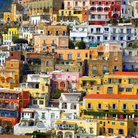 Positano by Michael Smith - Buildings & Architecture Other Exteriors ( positano, buildings, architecture, italy, travel photography )