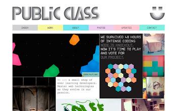 Photo: Site of the Day 18 November 2012 http://www.awwwards.com/web-design-awards/public-class