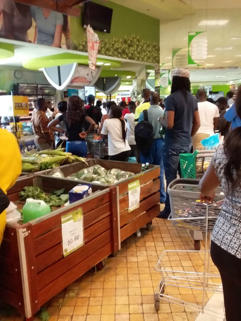 Stores in Harare, Zimbabwe, on Thursday had to prevent new shoppers from coming inside while they tried to deal with those who had already walked through the doors.