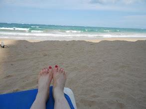 Photo: Obligatory feet/beach shot.