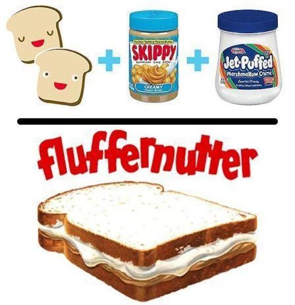 A play on the fluffernutter sandwich.