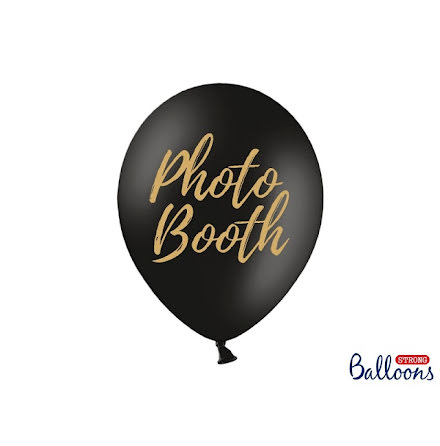 Ballong Photobooth, svart