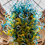 Glass Chandelier by Chris Seaton - Artistic Objects Glass ( artistic objects, glass, multicolored, chandelier, hanging,  )