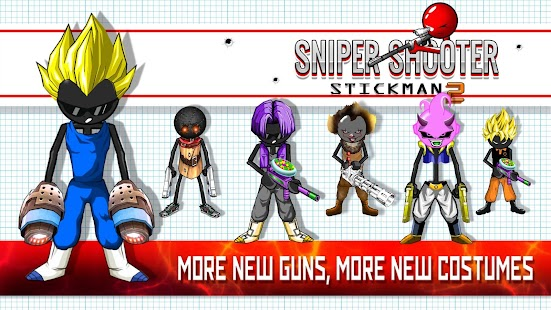 Sniper Shooter Stickman 2 Fury: Gun Shooting Games - náhled