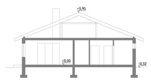 Dom z historią - C258 - Przekrój