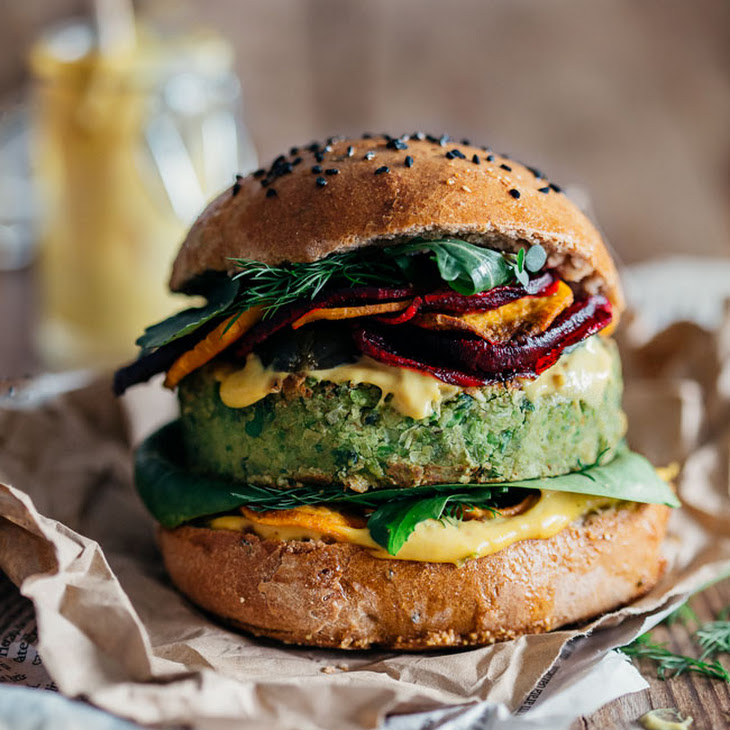 Monster Vegan Burger by Ellie Goulding and Jamie Oliver Recipe