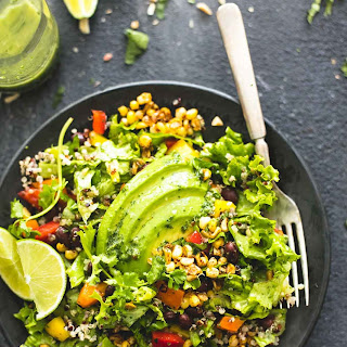 Chopped Fiesta Quinoa Salad with Cilantro Lime Dressing