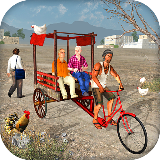 Off Road Public Bicycle Rickshaw Driving Simulator