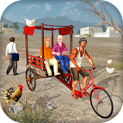 Off Road Cycle Rickshaw Driving Simulator