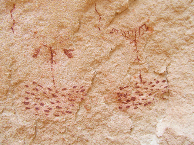 Unusual and finely-detailed pictographs