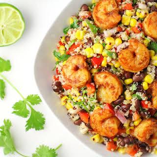 Caribbean Shrimp Quinoa Salad.