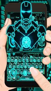 Ai Robot Neon Keyboard Theme - náhled