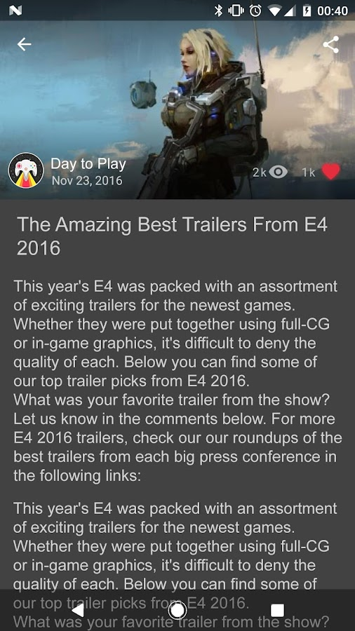 Day to Play - Gaming news from around the World (Unreleased)- screenshot