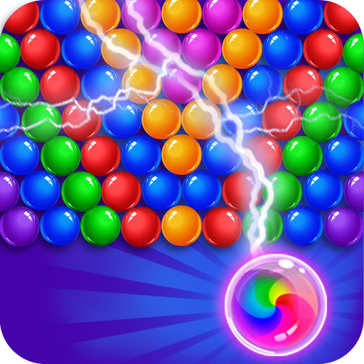 Bubble Shooter Game with Bouncing Balls