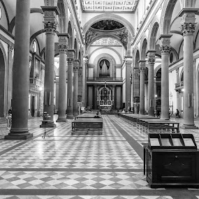 Florence Church by Andrew Moore - Black & White Buildings & Architecture (  )