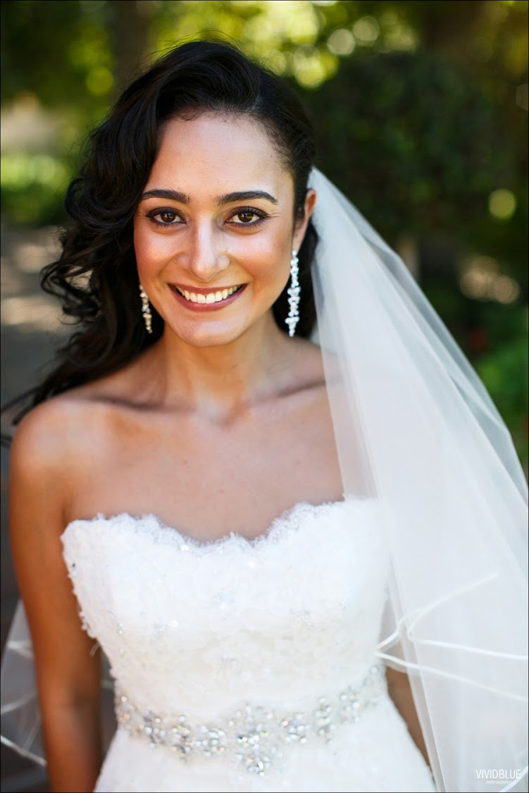 Limia Essop on her wedding day in 2013. She married Ahmed Shaikjee at Lourensford wine estate in Somerset West.