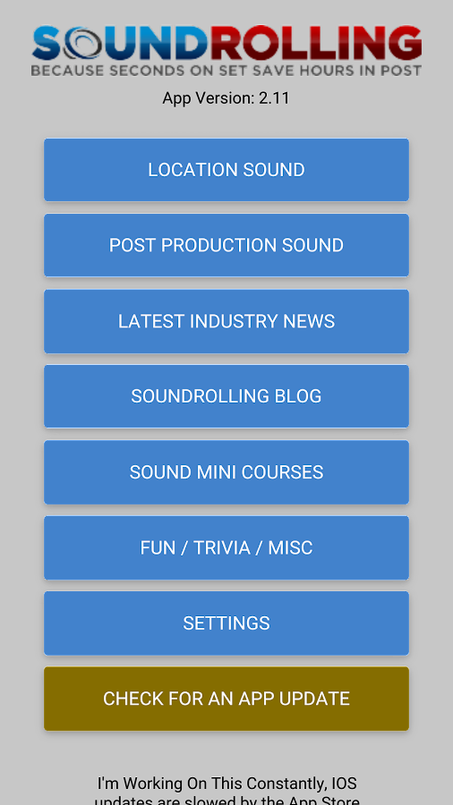Soundrolling Location Sound App- screenshot