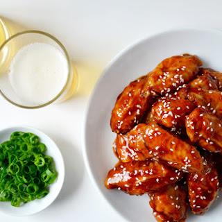 Crispy Baked Teriyaki Chicken Wings.