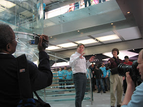 Photo: Johnson says it's the biggest Apple store yet