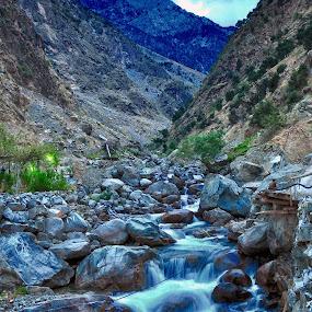 falling water - paksitan by Assam Khan - Landscapes Waterscapes ( water, pakistan, gilgit, waterfall, landscape )