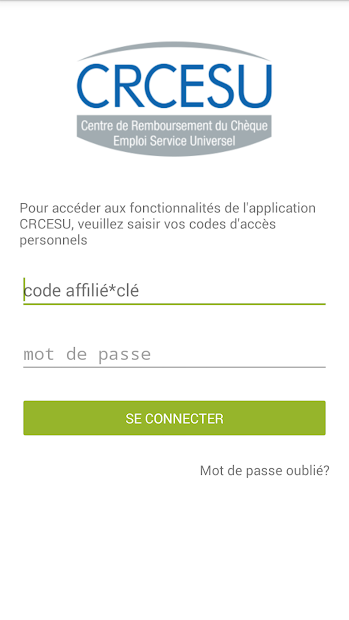 CRCESU Android App Screenshot