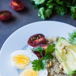 Quinoa and Boiled Eggs Breakfast