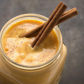 Pumpkin Pie Protein Smoothie.