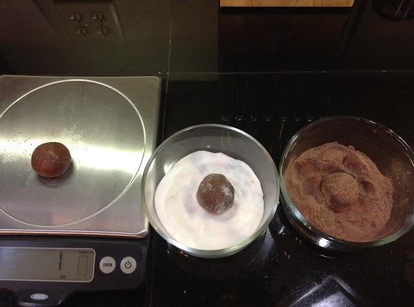 Shape into balls.  I make mine 1 oz.  you can make them...