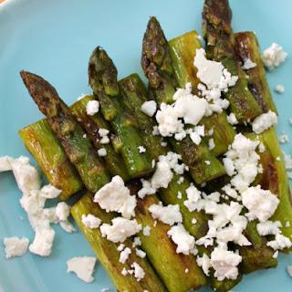 Sauteed Asparagus With Feta