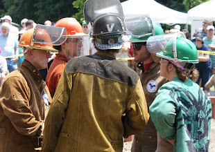 Photo: The iron pour was facilitated by Keystone College (photo Chris Balton)