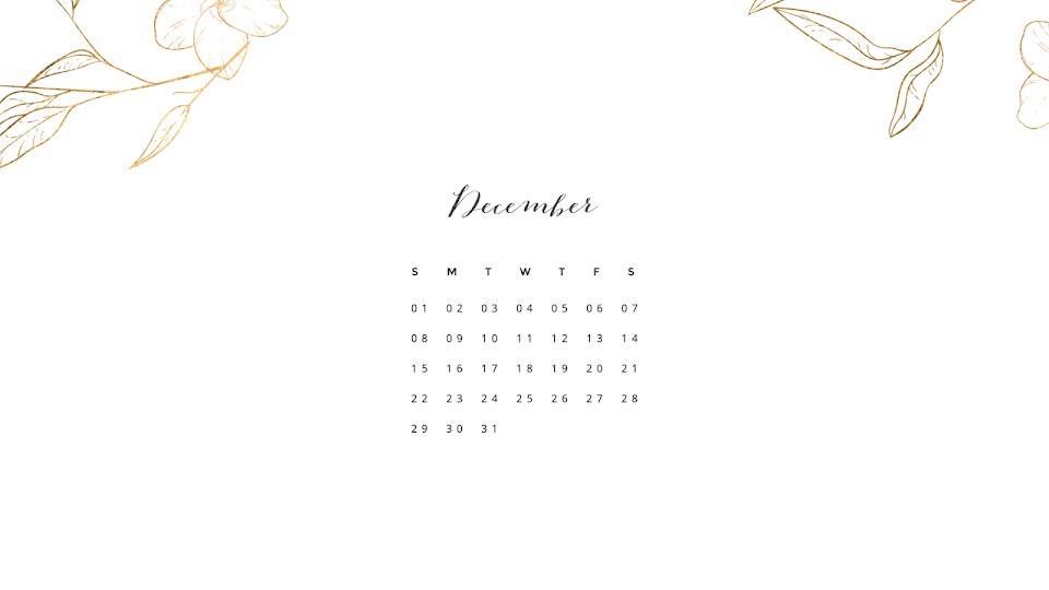 Gilded Monthly - Calendar Template