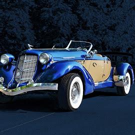 Blue Two by JEFFREY LORBER - Transportation Automobiles ( jeffrey lorber, rust 'n chrome, car photo, car, auburn, lorberphoto )