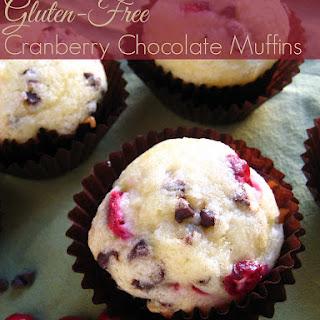 Gluten-Free Cranberry Chocolate Muffins.