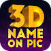 3D Name on Pics - 3D Text Icon